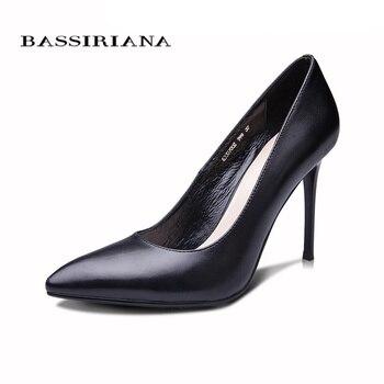 BASSIRIANA 2016 New High-heeled Shoes Woman Pumps Wedding Shoes Fashion Sexy Women Shoes Classic  Black High Heels 2