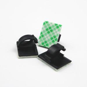 Image 5 - Lote de 20 unids/lote de cables de plástico para oficina y coche, envoltura de Cable plana pegada, Clips de sujeción, fijador, organizador, bobinadora, abrazadera de montaje rectangular