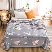 Dumbo gêmeo completa rainha rei colchas cobertores moda meninos meninas cobertores Lance cobertor de Flanela na Cama/carro/sofá miúdos dos desenhos animados tapetes