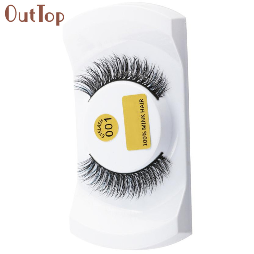 OutTop Eyelashes 3D Lashes Mink Natural Thick False Fake Eyelashes Eye Lashes Makeup Extensions Eyelash extension 18mar28(China)