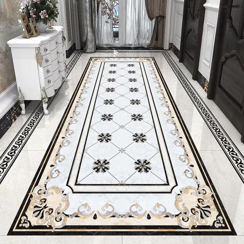 European Style Marble Floor Wallpaper 3D Living Room Hotel Luxury Decor Tiles Floor Mural PVC Self-Adhesive Waterproof Stickers