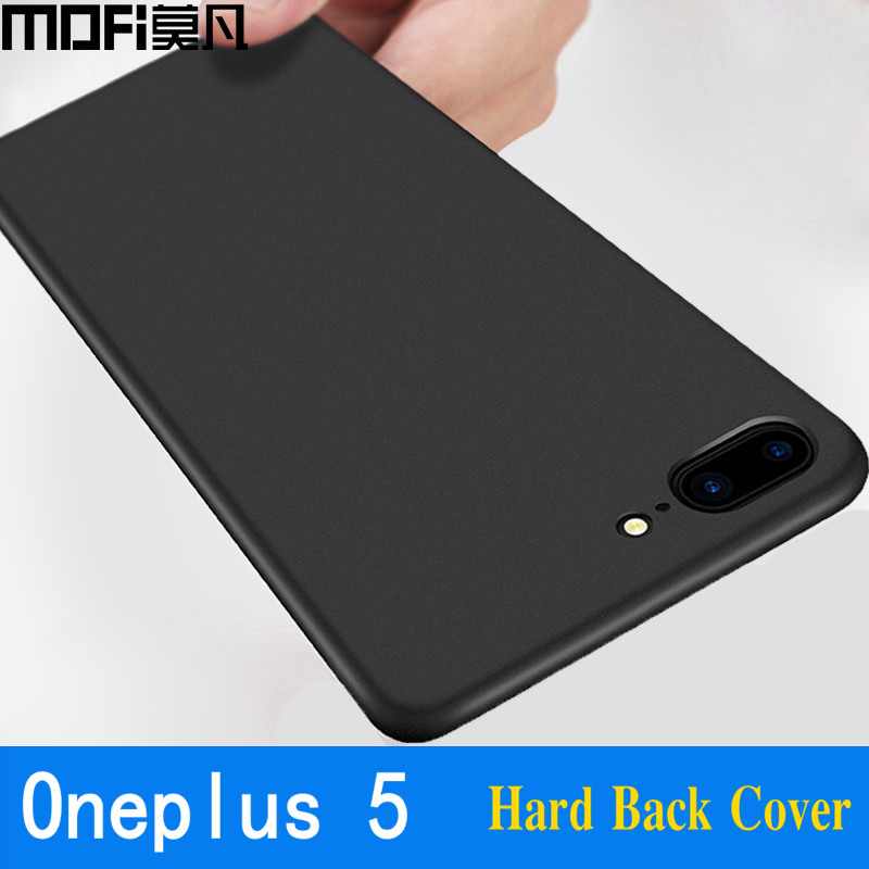 Oneplus 5 case cover hard PC complet protect un plus 5 cutie din spate capas negru coque subțire MOFi original 1 plus 5 case 5.5
