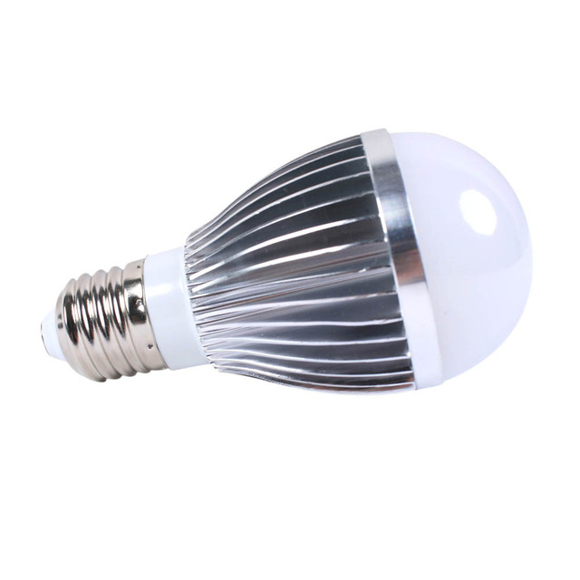 20PCS/LOT AC 220v 5w white LED ball bulb 450-500lm energy saving lamp household commercial and public lighting