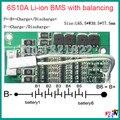 6 S 10A 22.2 V li-ion BMS placa de proteção da bateria PCM bms pcm com equilíbrio para a bateria de iões de lítio li