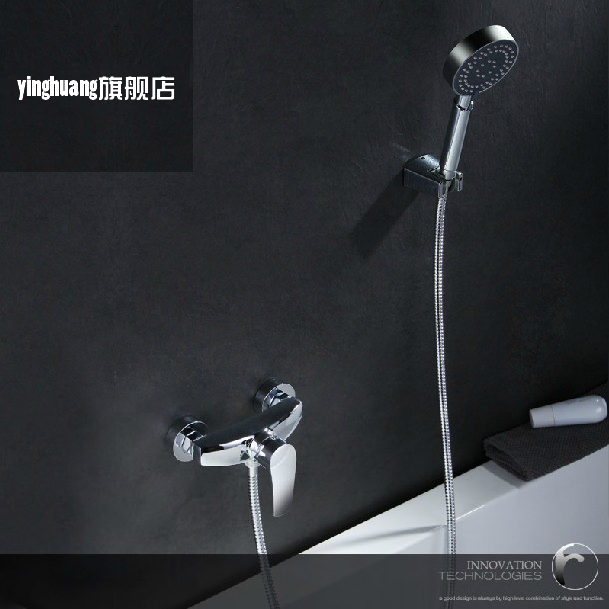 Bathroom hot cad cold handheld Shower Faucet Bath Faucet Mixer Tap With Hand Shower Head Shower Faucet Set Wall Mounted