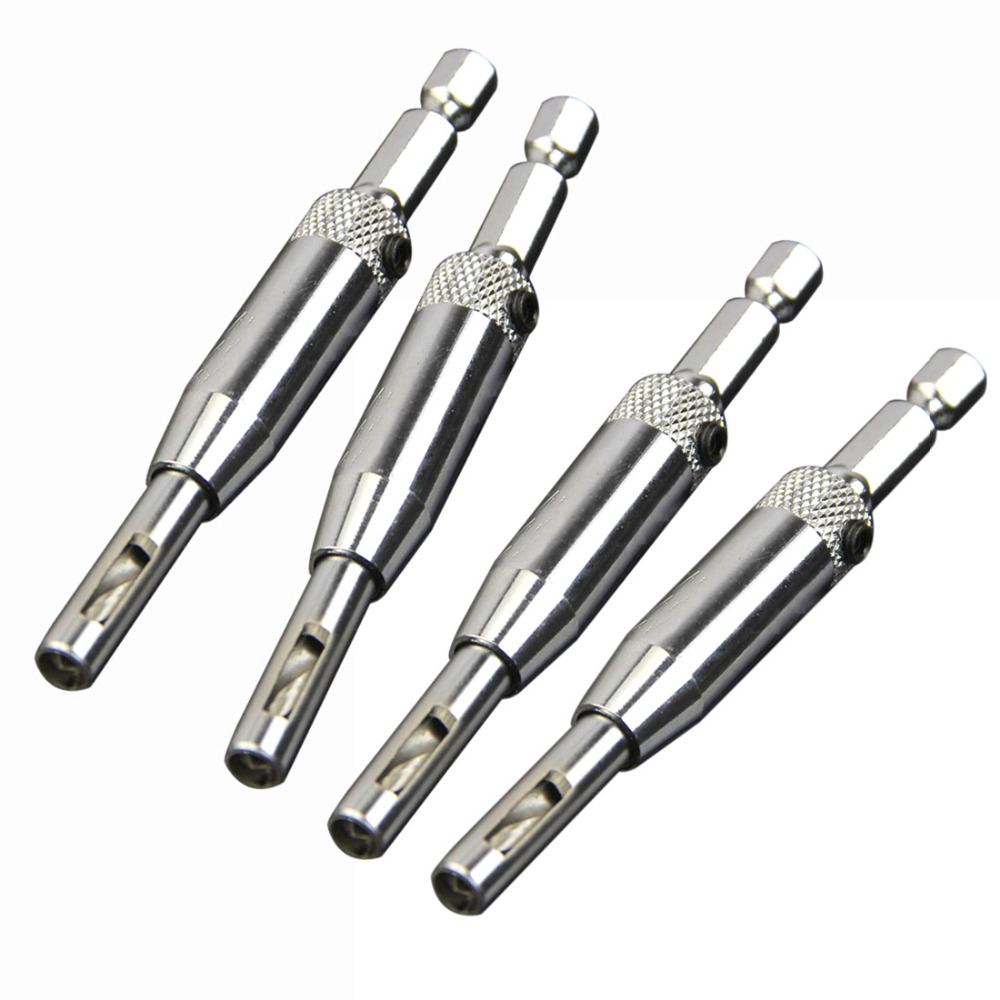 Promotion Self Centering Hinge Hardware Drill Bit Set Door Cabinet Hinge Drilling Pilot Hole Wood Metal Plastic