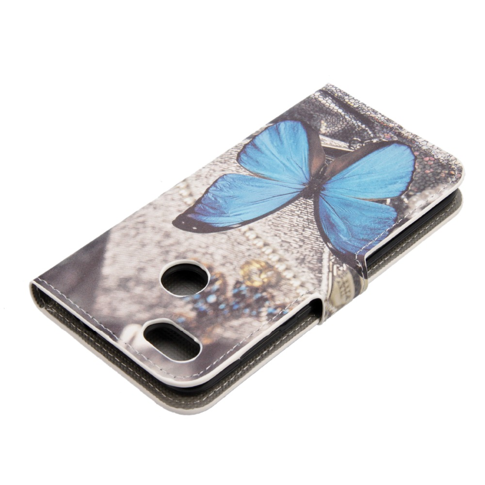 Flip Cover Case for Huawei Honor 4C/5C/4a/5a/6a PU Leather Butterfly Sleepy Owl Retro Wallet Cover Bag