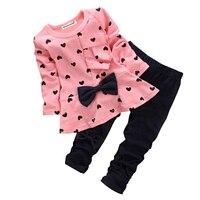 Kids Girls Clothes 2017 Spring Autumn Baby Boys Girls Cartoon Minnie Long Sleeve Cotton Set Children