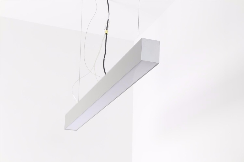 Free Shipping Best Selling Linkable Recessed Pendant Suspend Office LED Linear Light aluminum+PC cover_aluminum end caps+cables цена и фото