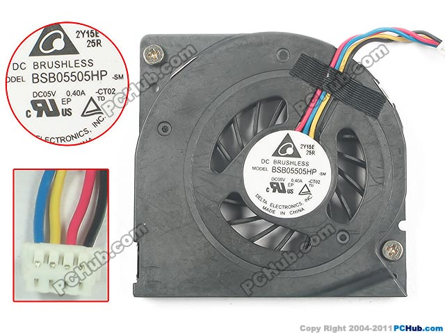 Delta BSB05505HP, -CT02 DC 5V 0.40A 4 wire 4-pin connector Server Bare fan растение фикус эластика мелани д 19