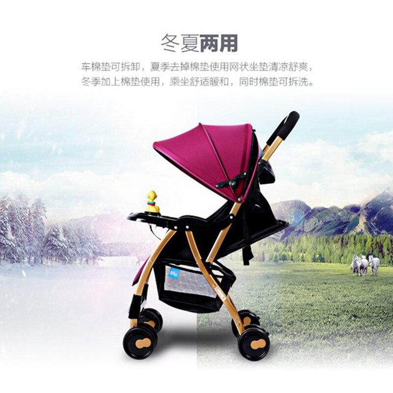 High Landscape Baby Stroller Lightweight Portable Travelling Pram Children Pushchair Multifunction Four Wheels Stroller Carrier in Four Wheels Stroller from Mother Kids