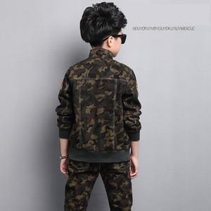 Image 4 - Male child clothing autumn set camouflage cotton 100% 2020 sports sets child spring boy long sleeve + pants 2pcs