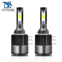 Effort&BJ Auto Headlamp COB Light Bulb for Audi BMW Mercedes Benz Volkswagen H15 6000K 110W 26000LM Car LED Headlight