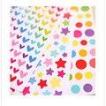 6 hojas/set El nuevo Lindo amor corazones/puntos/estrellas de Cinco puntas etiqueta decoración diario teléfono pegatinas portátiles niño juguete DIY