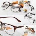Ventas al por mayor Unisex Hipster Retro Vintage Clásico Medio Gafas de Marco de la Lente Clear Nerd Gafas