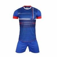 Men survetement football jersey sports kits soccer sets jerseys uniforms shirts shorts suits Breathable Custom number name Logo