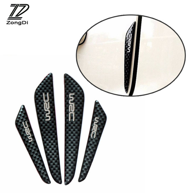 ZD 4pcs Car Door Protection <font><b>Stickers</b></font> For Seat Leon Ibiza <font><b>VW</b></font> Polo Golf 5 MK4 <font><b>Touran</b></font> Bora Jetta MK6 Nissan Juke Almera Accessories image
