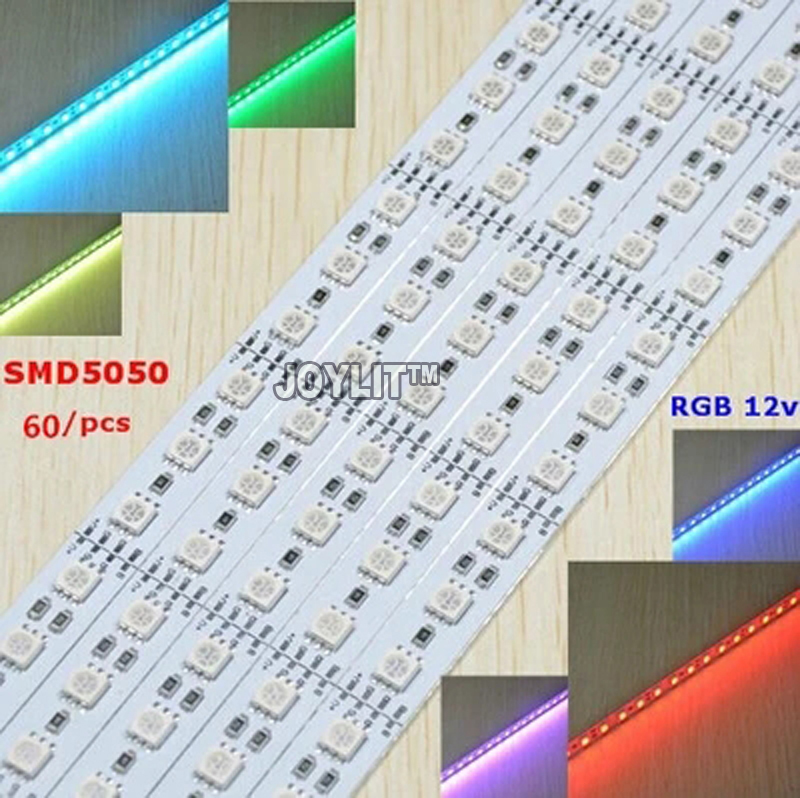 100pcs/lot smd 5050 RGB LED Bar Light DC12V Waterproof 50cm 30 36 LEDs Aluminum Rigid LED Strip LED Hard Rigid Strip bar Light 5pcs lot high light dual chip 8520 smd led rigid light clear milky cover led bar light strip dc 12v 5a power supply adapter