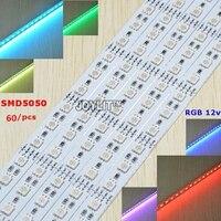 100pcs/lot smd 5050 RGB LED Bar Light DC12V Waterproof 50cm 30 36 LEDs Aluminum Rigid LED Strip LED Hard Rigid Strip bar Light