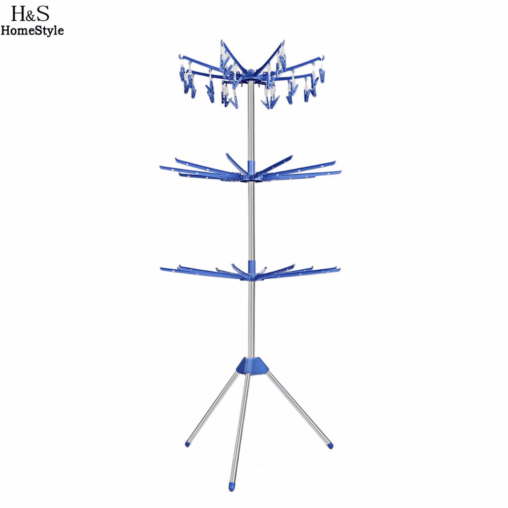 Homdox Towel Stand Portable Folding Three Tiers Drying Rack Towel Laundry Hanger Dryer Hanger Bar Hook N30* shanghai kuaiqin kq 5 multifunctional shoes dryer w deodorization sterilization drying warmth