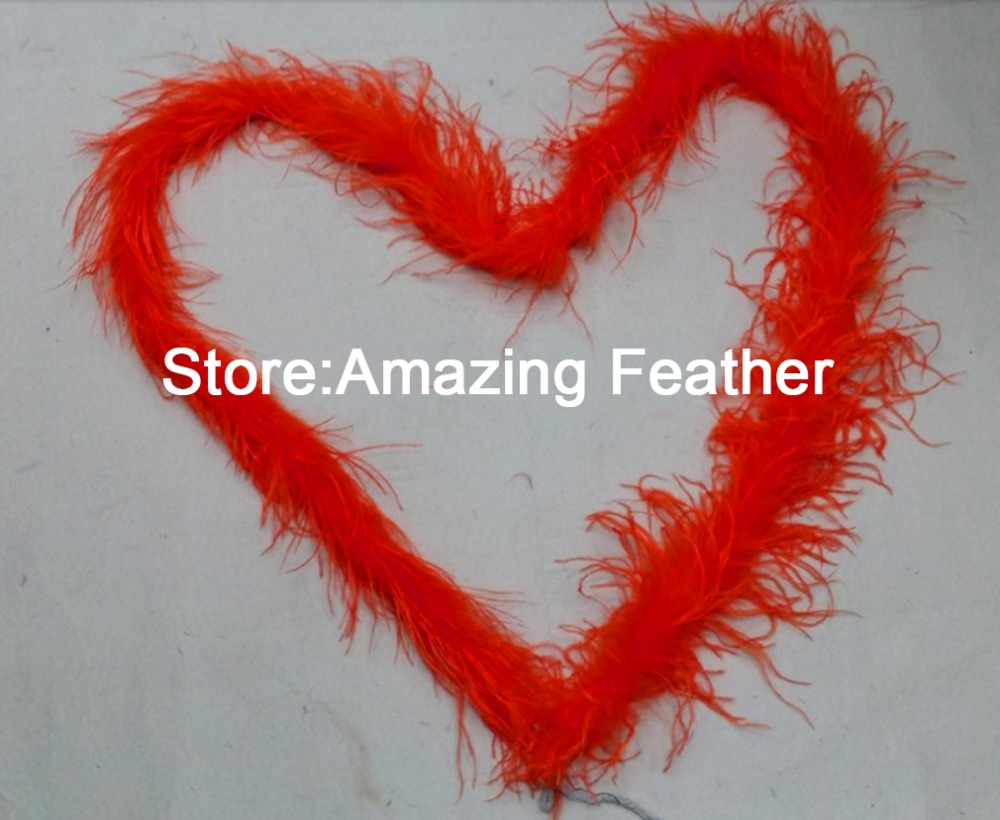 Free shipping 10yard/lot Red quality dyed 1ply OSTRICH FEATHER BOA with turkey feather boa for Party/Costume/Shawl/Craft