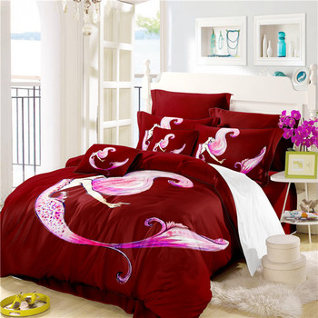 The Mermaid Bedding Set Comforter Bedding Sets Queen Size Bed Sheets Cotton Drop Shipping A7