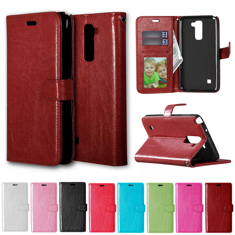 For Lg Stylus 2 K520 New Leather Flip Book Wallet Phone Case Cell Phone Accessories Tempered Glass Cell Phones & Accessories