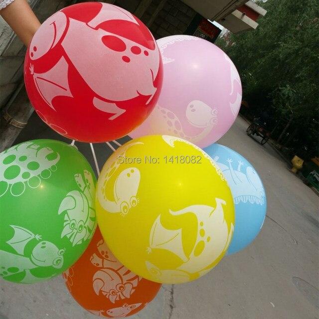 new balloons 25pcs printing animal dinosaur balloons 12inch colored