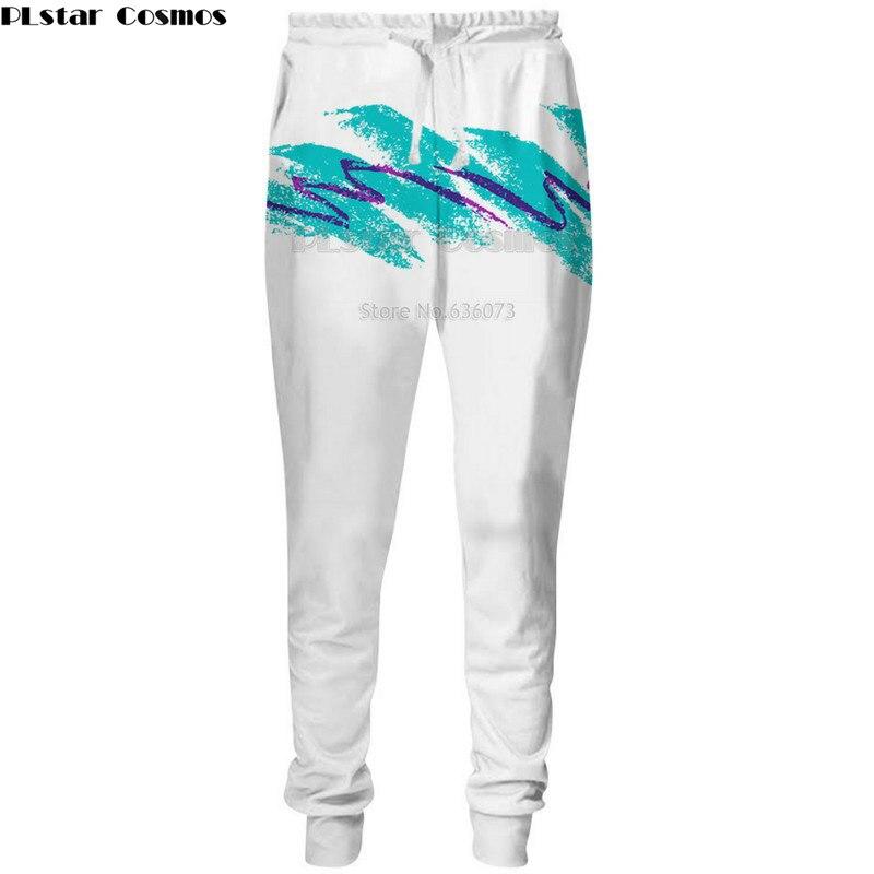 PLstar Cosmos trasporto di Goccia 2018 nuovi Pantaloni di Modo Caldo 3d pantaloni 90 s Tazza di Carta Stampa Uomini Donne jogging jogging Casual pantaloni