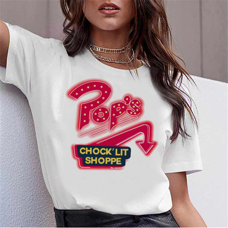 Showtly Riverdale Tops Hot T-shirt Casual O-neck women's t-shirt with print punk female short sleeve cool lady girl tee top