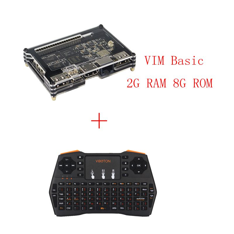 Khadas VIM1 Basic Pro Open Source TV Box Quad core Max Amlogic S905X Octa core 2G DDR3 Dual WiFi Bluetooth DIY Set-top Box new t95n mini m8s pro android 6 0 tv box s905x quad core bluetooth wifi 16 0 2g 8g memory smart set top box emmc ddr3