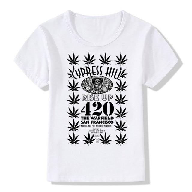 dff5b7ae91832 Children Cypress Hill Printed T-shirts Baby Kids Summer Short Sleeves Tops  Tee Boys Girls Rap Hip Hop 420 Clothes