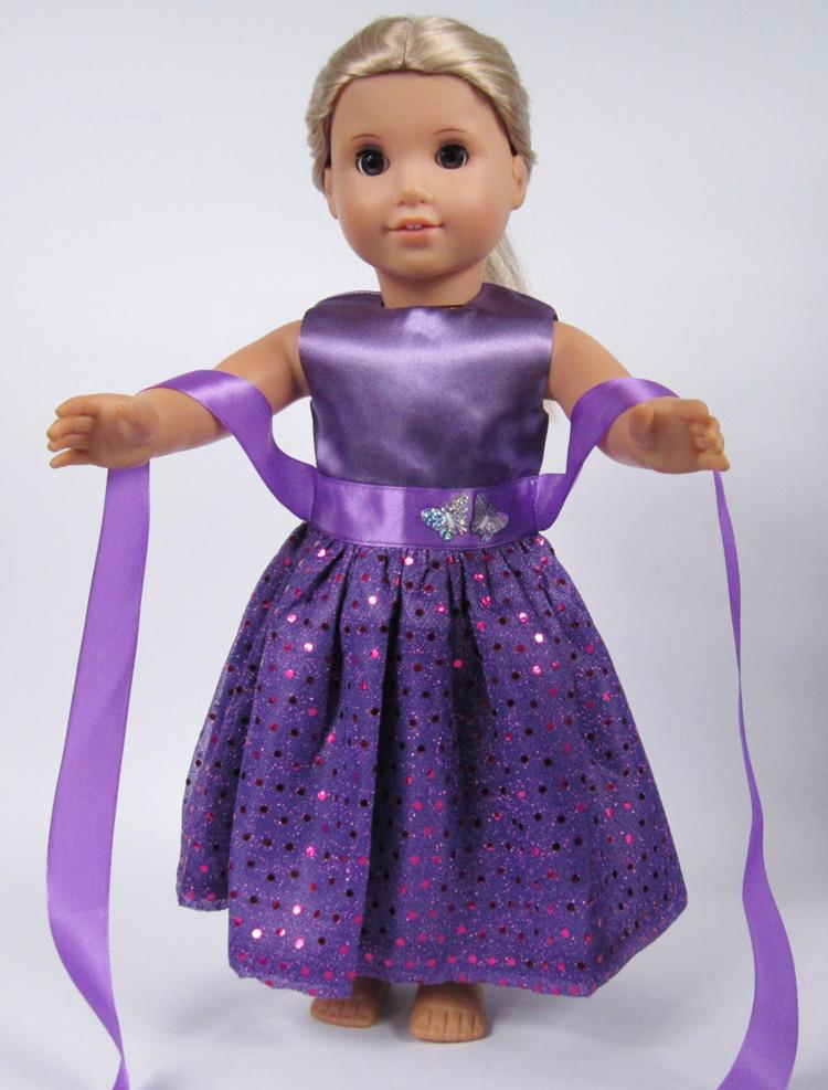 Doll Baby Dress Doll Clothes Handmade Western Dress For 18 Inch American Doll & 43 Cm Baby Doll For Our Generation  Girl`s Toy