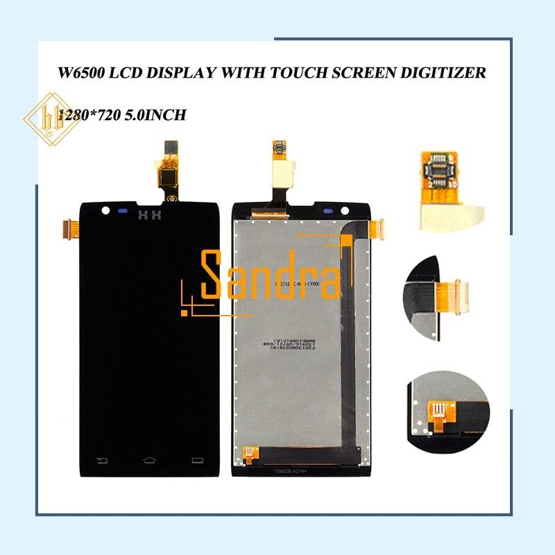 Nouvelle marque 1 pièces 4.3 ''W6500 écran lcd HH Pour Philips Xenium w6500 écran lcd + ensemble numériseur à écran tactile libèrent le bateau + Outils