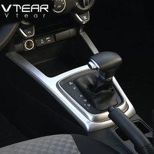 Vtear для Kia Rio 4 X-Line Gears рамка Крышка Интерьер U панель круг хромированная отделка автомобиля-Стайлинг Литье аксессуары 2018