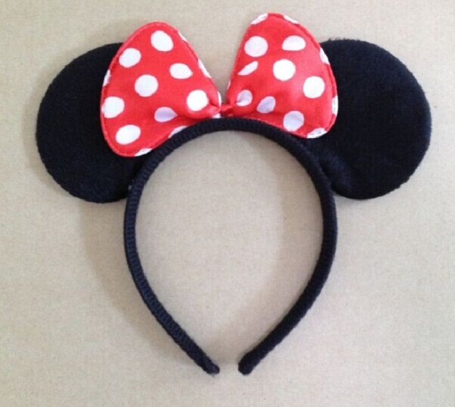 kids birthday party supplies Minnie Mouse ears children Hair Accessories Baby Girls Headwear Red Pink Bow Headband Hair Band sequin bow minnie mouse ears headband for kids shiny glitter hair bow hairbands girls photography props hair accessories