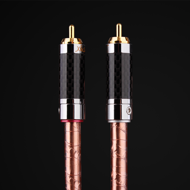 HiFi 99.99997% falt OCC 24K gold Plated Plug connector RCA audio cable DVD CD DAC amplifier Audio cable