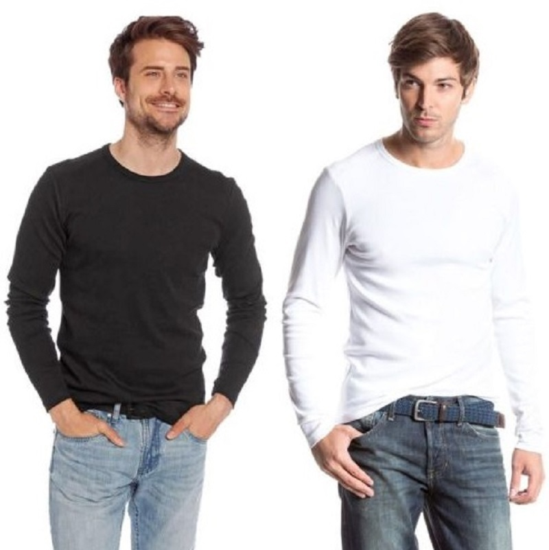 Compare Prices on Long Sleeve Tshirt Men Plain- Online Shopping ...