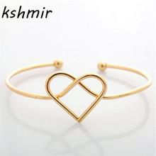 Hot style act the role ofing is tasted Having contracted bracelet affection open copper couple Love hand woven