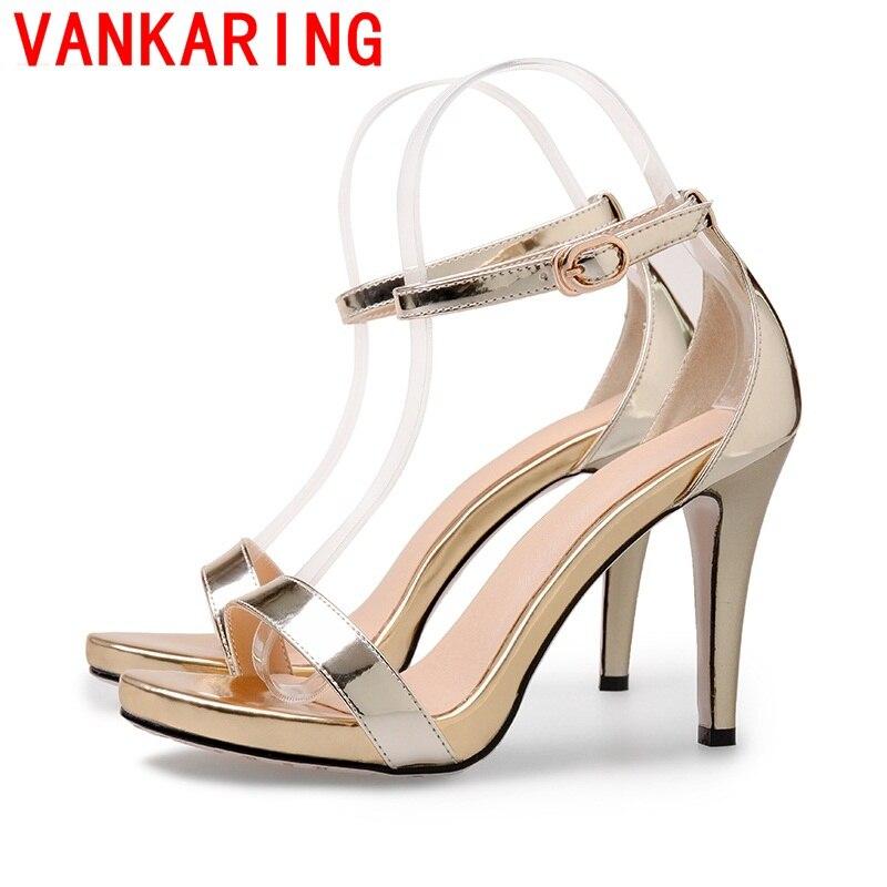 ФОТО VANKARING shoes 2016 new loffice ladies party designer shoes women open toe high heels summer shoes fashion wedding sandals