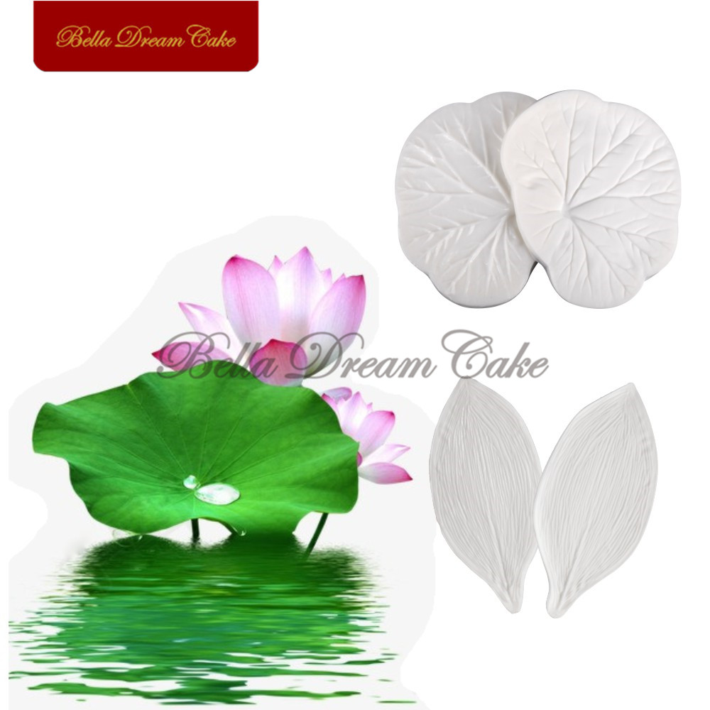Lotus Flower Leaf Textu Petal Veiner Silicone Mould Set Cake