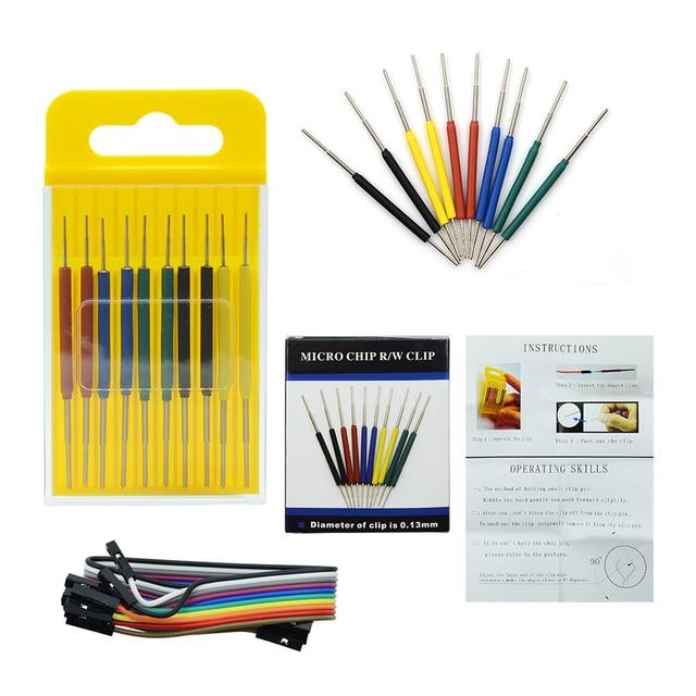 2019 Micro IC clamp SOP/SOIC/TSSOP/TSOP/SSOP/MSOP/PLCC/QFP /TQFP/LQFP/ SMD IC test chip pin mini chips adapter socket