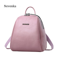 NEVENKA Women Branded Backpacks Lady PU Leather Backpack Teenager Girls High Quality School Bags Satchels Travel