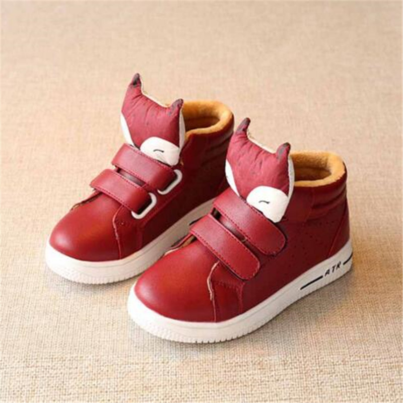 Дети досуг теплая обувь подходит для зимы и осени модное милое Обувь для мальчиков и девочек кроссовки с мягкой Мех животных