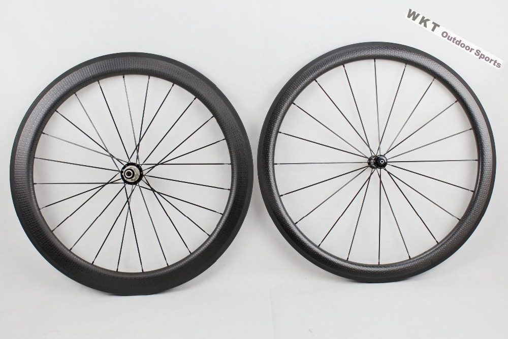 Powerway R36 hub bicycle carbon wheels dimple surface front 45mm rear 58mm clincher rims carbon wheels bicycle wheels dimple carbon wheels tubular clincher powerway r13 hub wheels 38mm 50mm 60mm 88mm road carbon bicycle wheels cheapest sale
