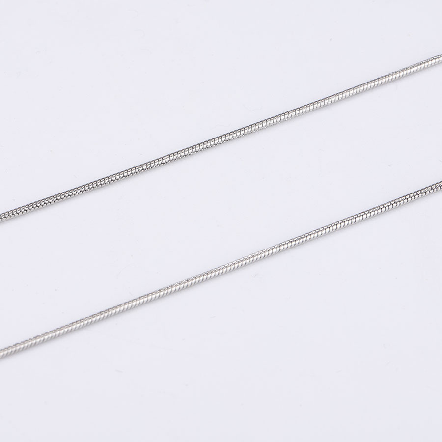 316L Stainless Steel Silver Tone 50cm Length 1.2mm Snake Chain Necklace with 5cm Extend Fit DIY Jewelry Making
