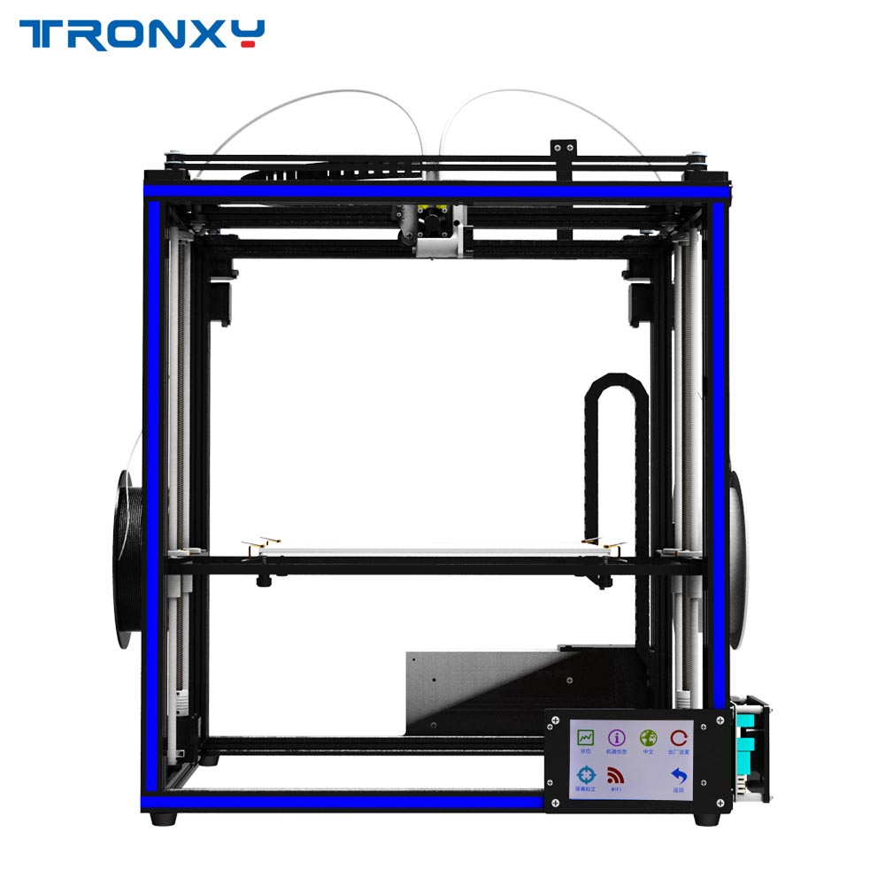 HOT Tronxy X5S 2E Double Feeding Port One Extrusion Head 3D Printer Print in any One