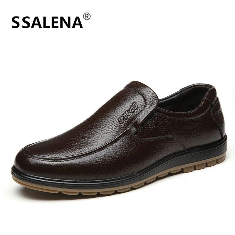 Do Pé Dos Flats Masculinos Loafers Redondo Leves Não Respirável Em Sapatos Preto Confortáveis Homens Casuais marrom Deslizamento deslizamento Dedo Aa52159 czCxq48w8d