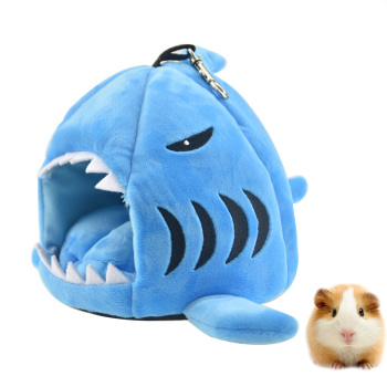 Cute Shark Guinea Pig Hamster Bed House Hammock Winter Warm Squirrel Hedgehog Chinchilla Bed House Cage Hamster Accessories