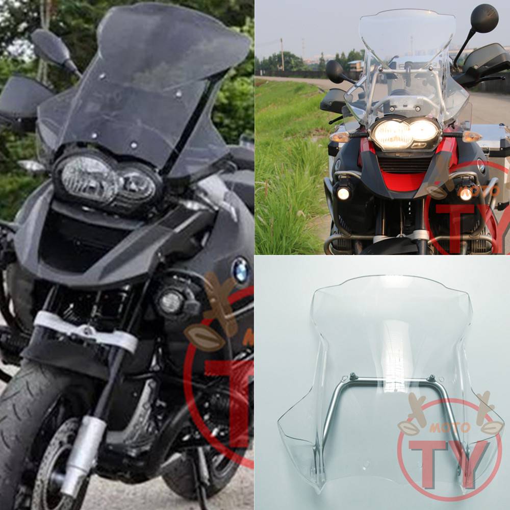 Мотоцикл Высокое качество для BMW R 1200 GS 2005 2006 2007 2008 2009 2010 2011 2012 MOTO лобового стекла ветровые стекла с поддержкой рамка